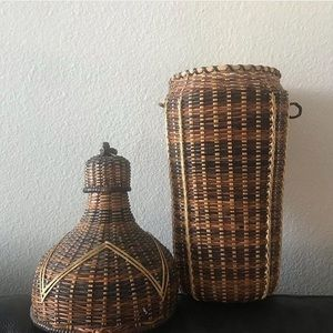Snake charmer wicker basket